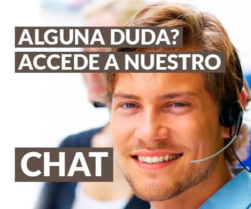 Chat online para aclarar sus dudas.