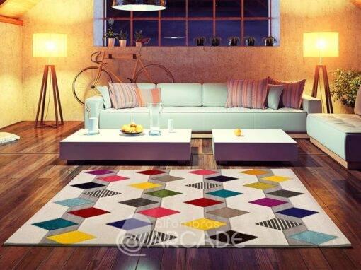 Alfombra Geométrica U80/3951 multicolor