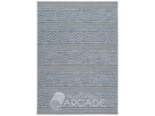Alfombra étnica geométrica U110/9681 azul