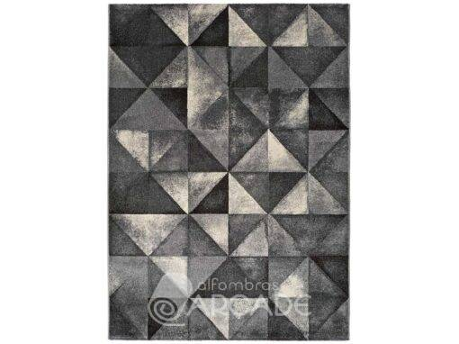 Alfombra geométrica U100/12004 gris pasillo