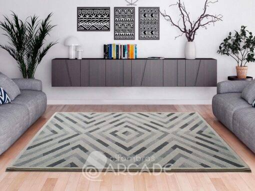 Alfombra geométrica U120/12206 gris