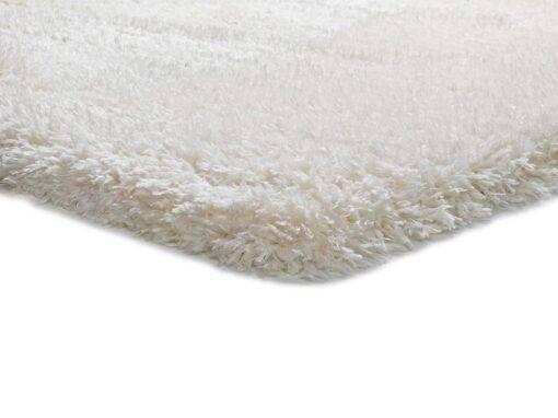Alfombra shaggy pelo largo U140/blanco