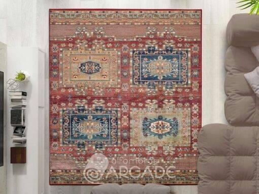 Alfombra vintage U260/927 rojo
