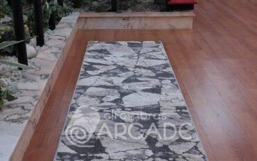 Alfombra de pasillo v15/972 gris