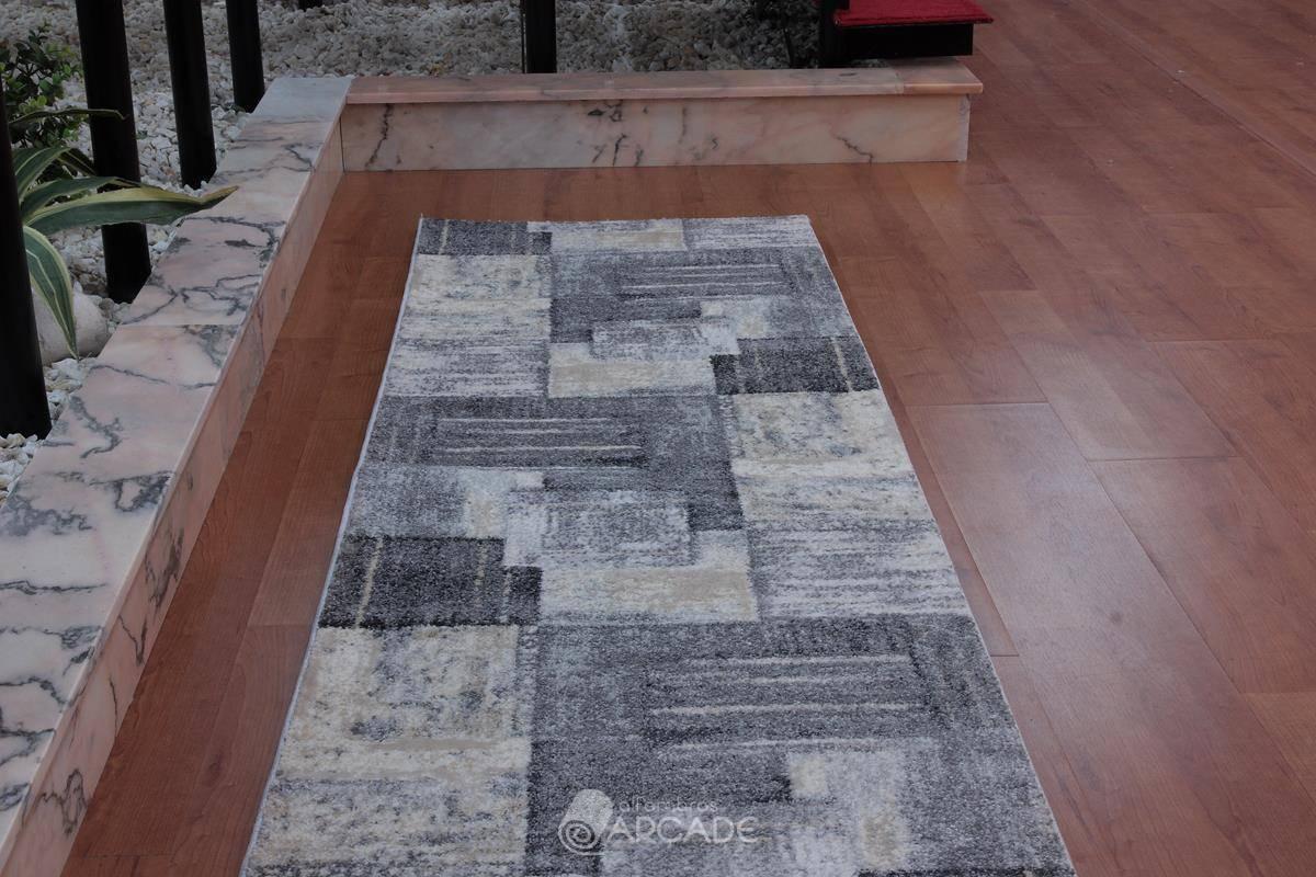 Alfombra de pasillo V55/3568 gris