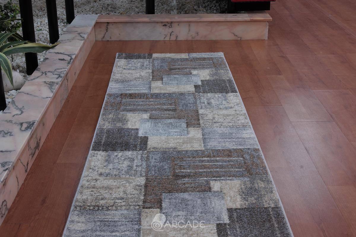 Alfombra de pasillo V55/3568 marrón