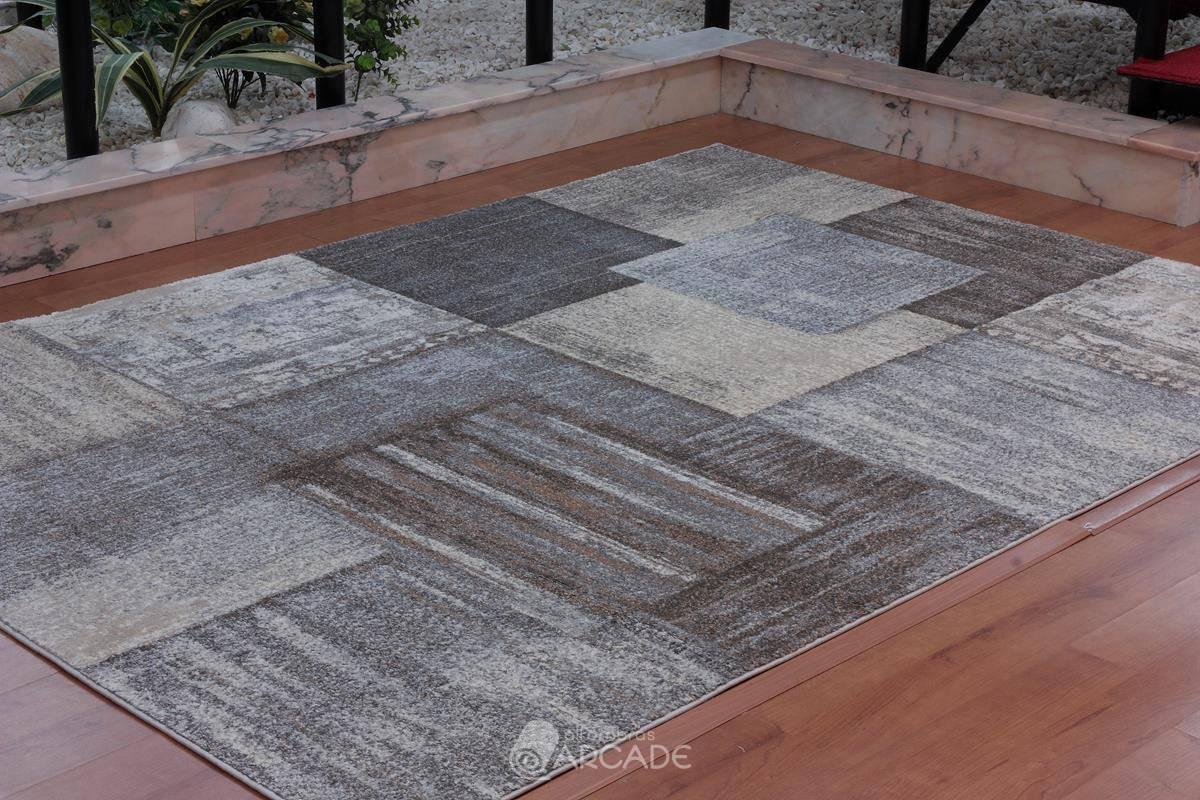 Alfombra moderna V55/3568 marrón